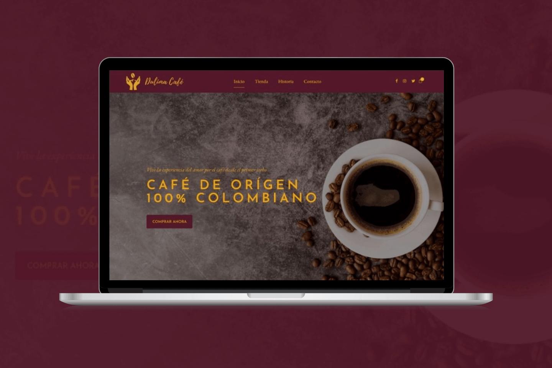 diseño tienda online cafe
